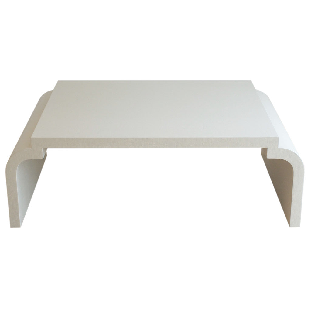 ... Deco Style Linen Wrapped Cocktail Table ...