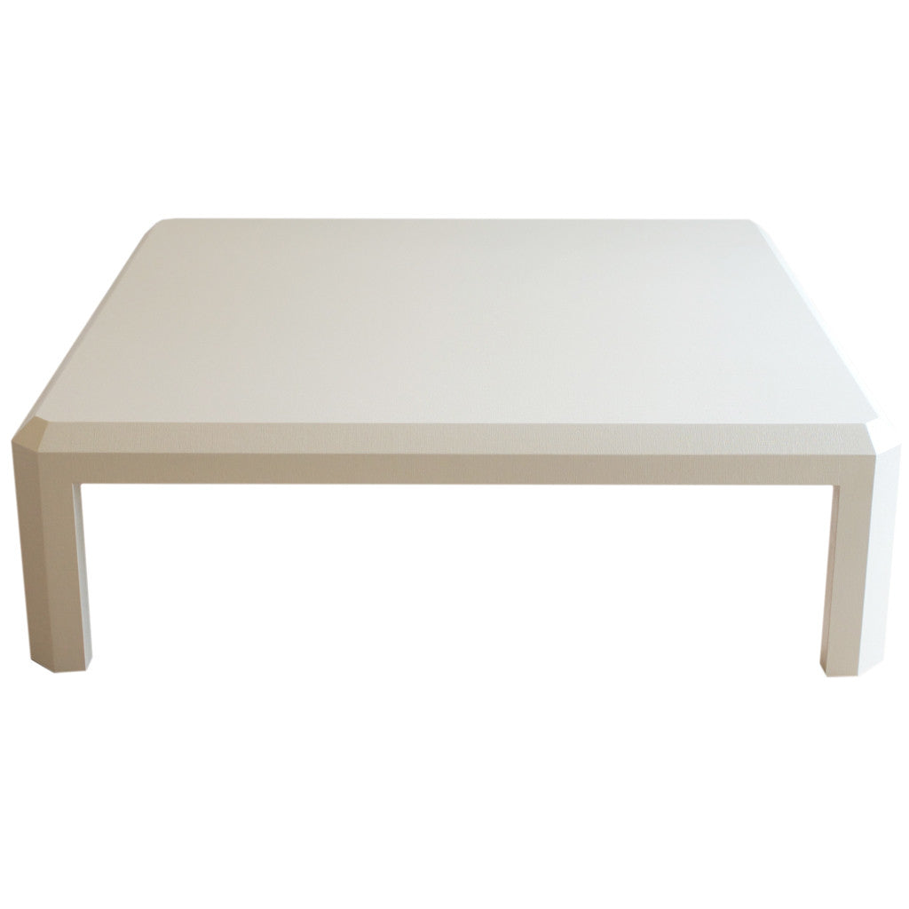 Linen Wrapped Coffee Table; Linen Wrapped Coffee Table ...