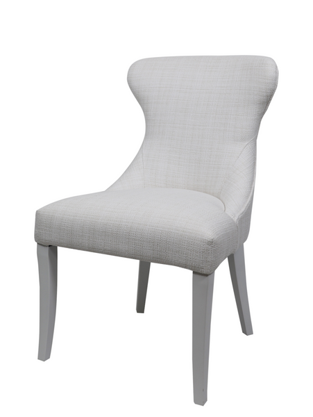 Curved Back Dining Chair in Perennials Home Spun Sea Salt