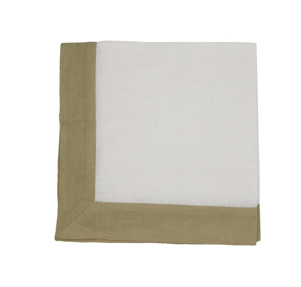 Linen Napkins, Ivory/Sand Gold Lame, Wideband