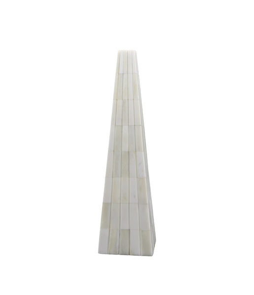ossian white obelisk pyramid, small