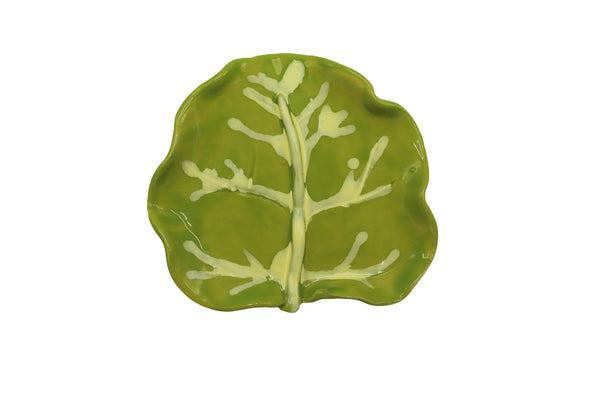"small 4"" seagrape leaf dish in sour apple"