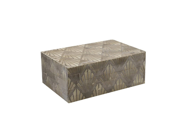 Gray Resin Wood Box, Small