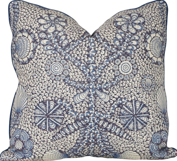 blue shell grotto pillow