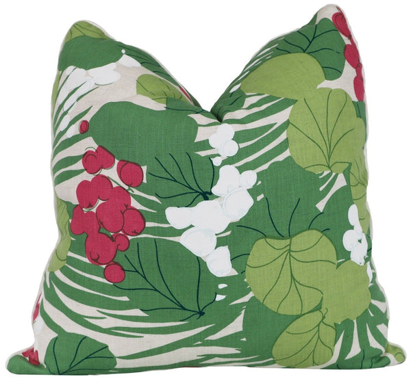 sea grapes tropical down pillow