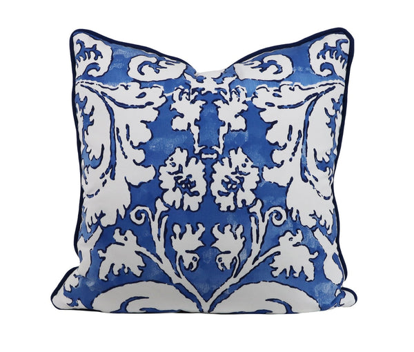Ellsworth capri blue outdoor pillow
