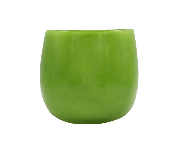 large pot in lime