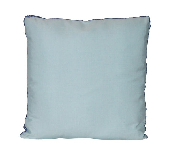 Turquoise Outdoor Pillow with Boxed Edge