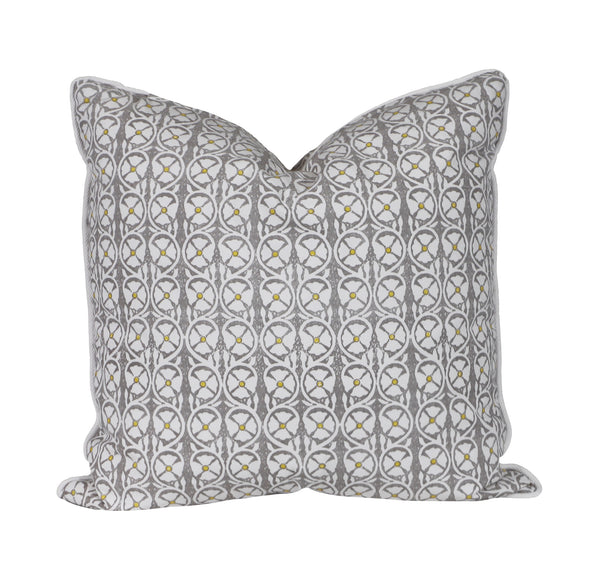 pasha in gray outdoor pillow