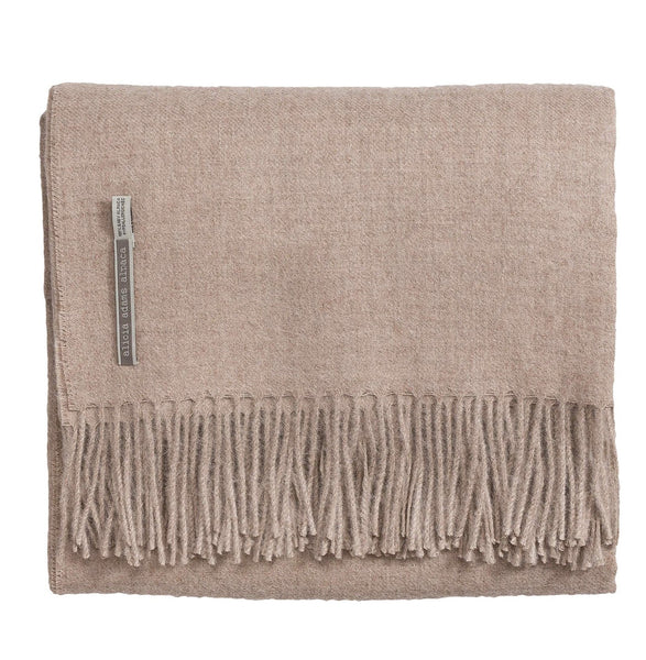 Alicia Adams Alpaca Classic Throw, Light Taupe