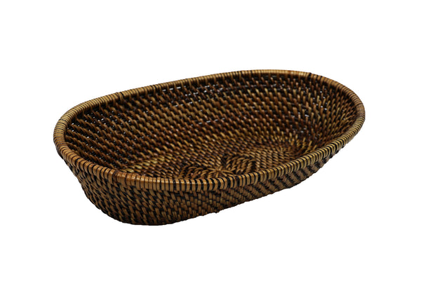 Oval Bread Basket with Tube Edge, Medium