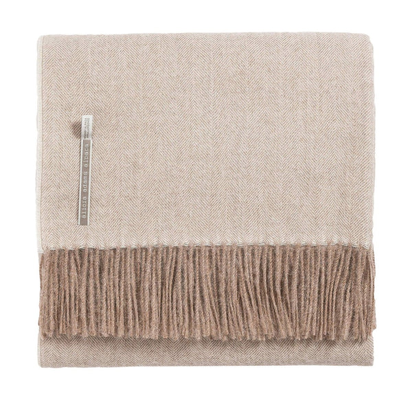 alicia adams alpaca classic throw, taupe herringbone