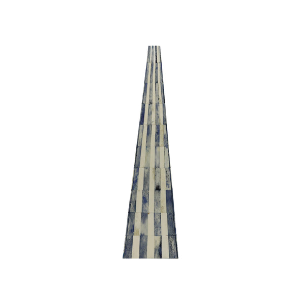 ossian blue and white bone obelisk pyramid medium