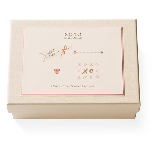 Karen Adams XOXO Note Card Box