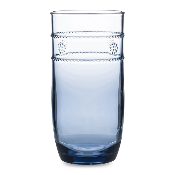Juliska Isabella Acrylic Tall Beverage Glass, Blue