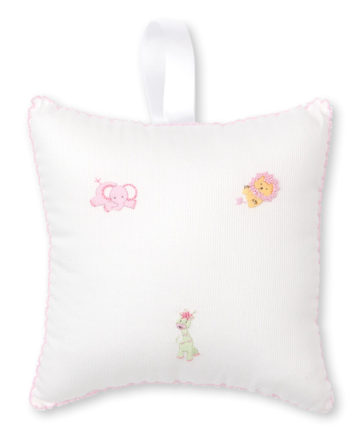 Kissy Kissy Jolly Jungle Musical Pillow White/Pink