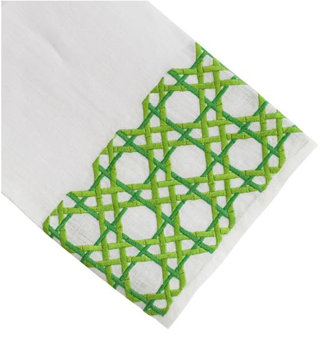 Cane Tip Towel, Green