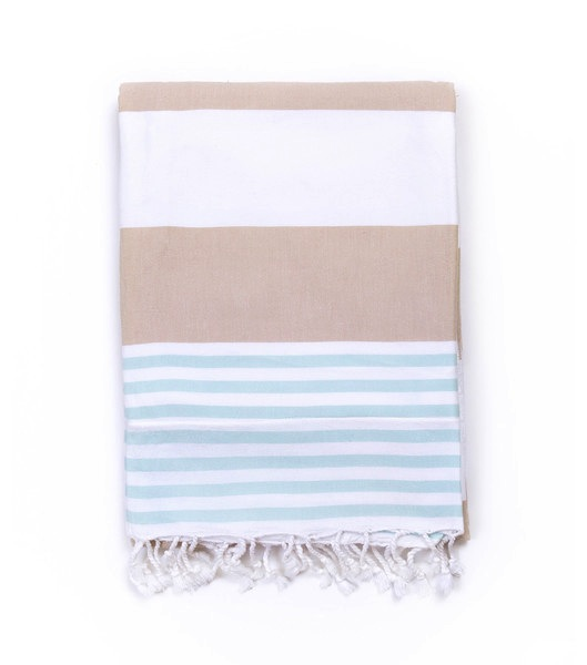 Turkish-T Terry-Lined Towel With Zipper Pocket Sky