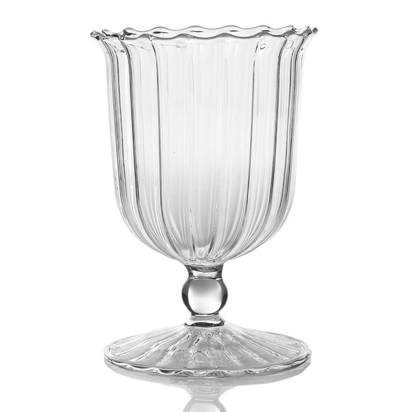 april clear glass vase, small