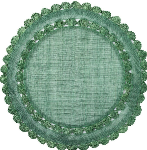Isadora Round Evergreen Placemat