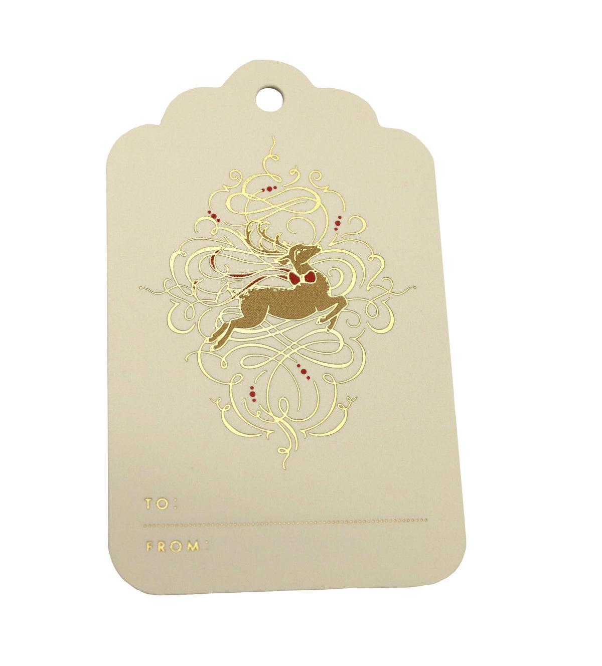 Crane - Leaping Reindeer Gift Tags, Set of 6