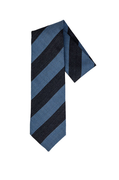 Robert Jensen Diagonal Stripes Printed Tie, Navy