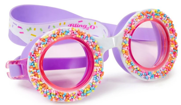 Bling2o Do-Nuts 4 U Swim Goggles, Grape Jelly