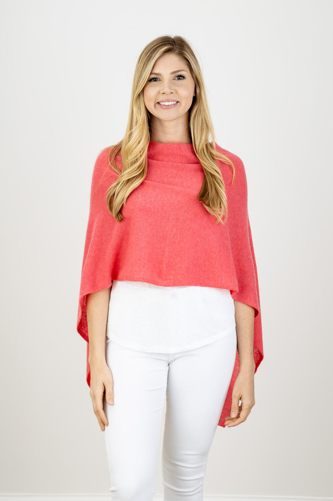 Alashan Cashmere Coral Cashmere Topper