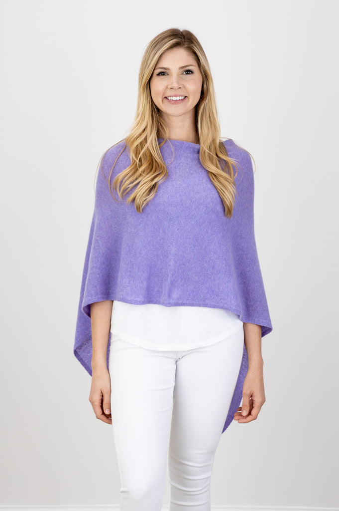 Draped Dress Topper, Lilac, 100% Cashmere