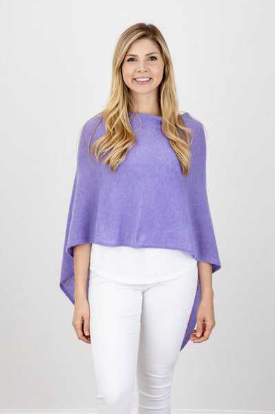 Alashan Cashmere Draped Dress Topper, Lilac, 100% Cashmere