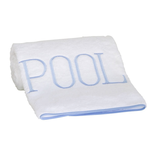 pool towel soft blue