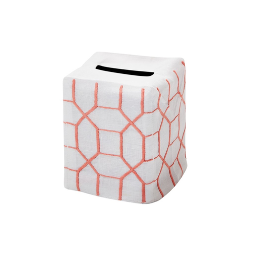 Joyce Tissue Box Cover, Shell Pink