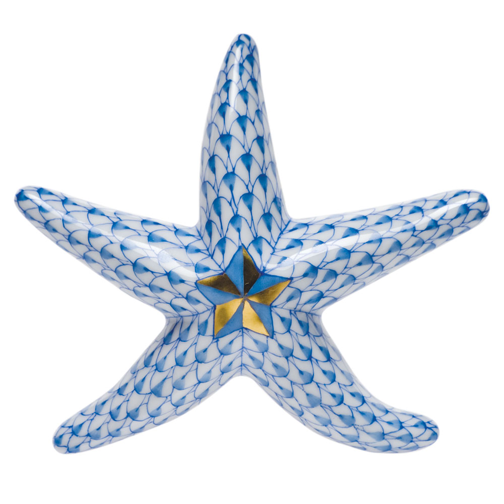Herend Miniature Starfish, Blue