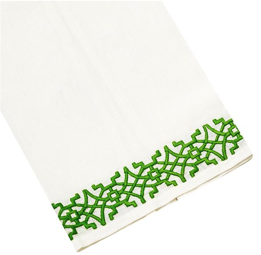 Chinoise Tip Towel, Green