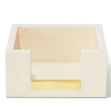 AERIN Shagreen Memo Paper Holder, Cream