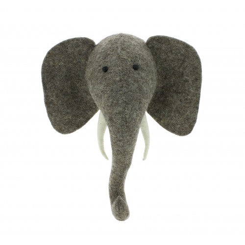 Elephant Head with Tusks, Mini