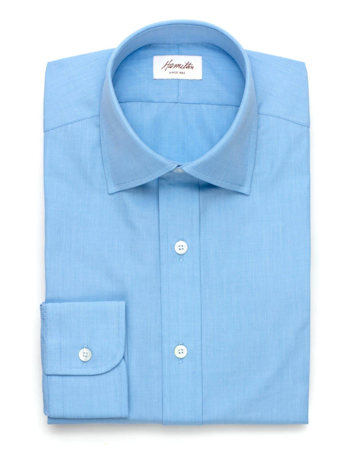Hamilton End-on-End Poplin Shirt, Trim