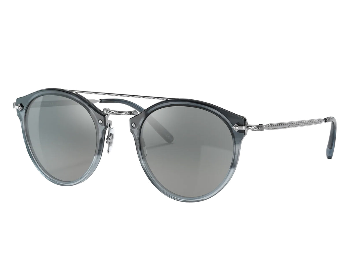 Oliver Peoples Remick Sunglasses, Dusk Blue/Gray Mirrored