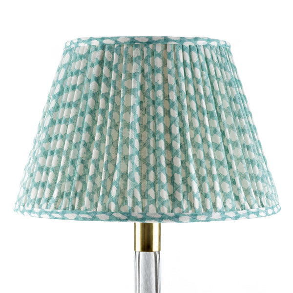 fermoie wicker lampshade in turquoise