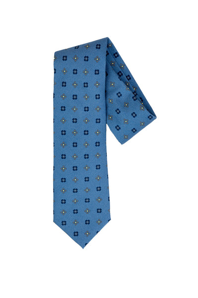 Robert Jensen Flower Printed Tie, Blue