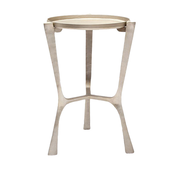 Addison Accent Table, Aged Silver