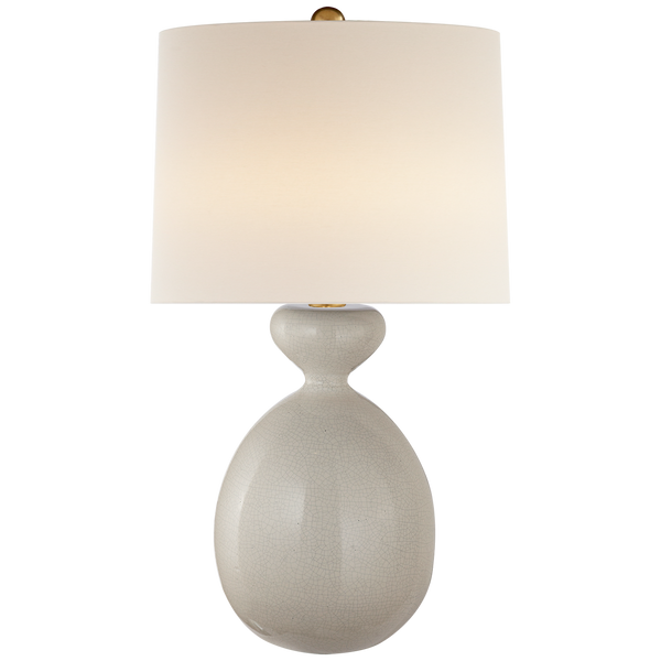 Gannet Table Lamp, Bone Craquelure