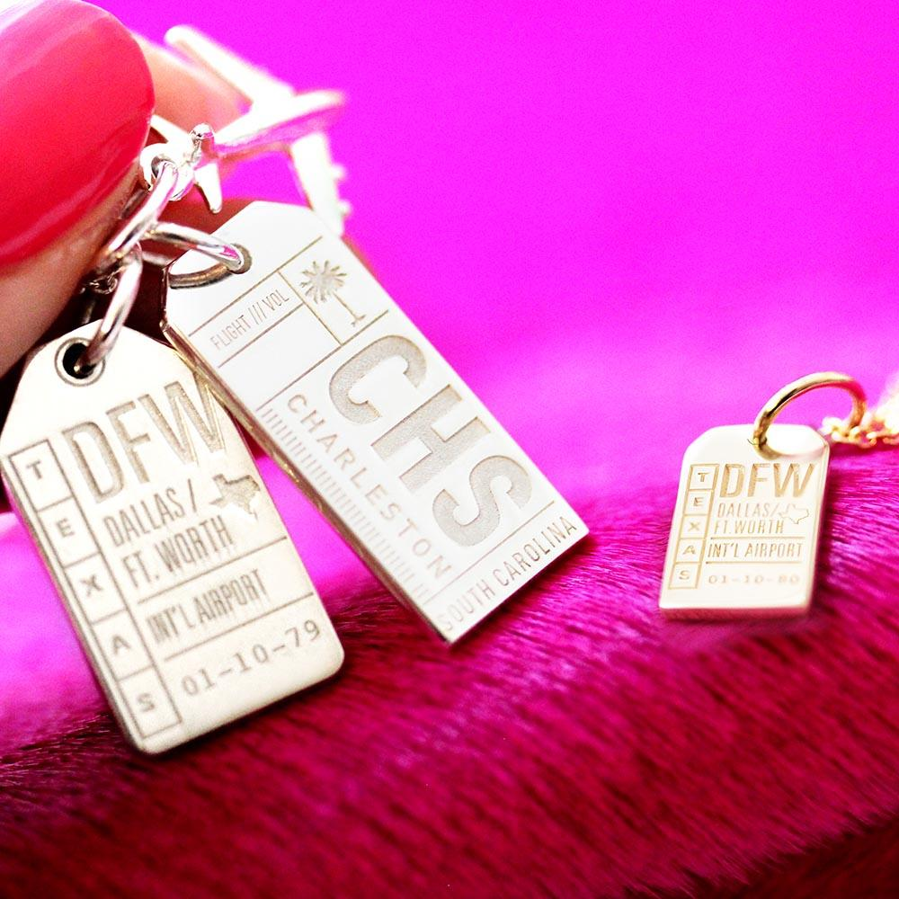 Jet Set Candy Dallas Luggage Tag Charm