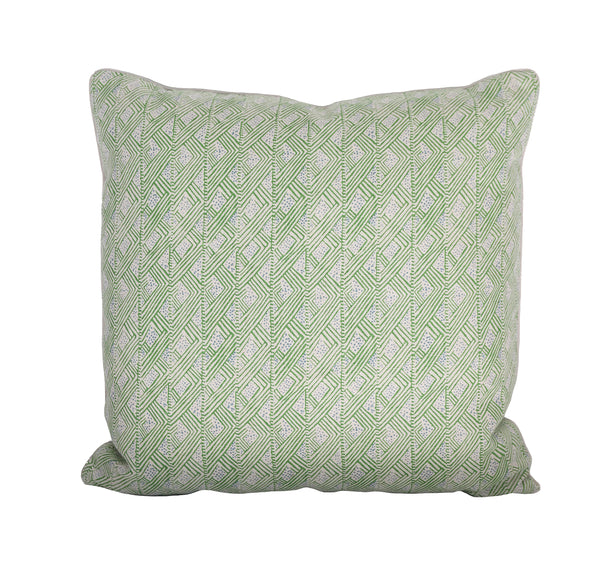 Geometric Belge Green Pillow