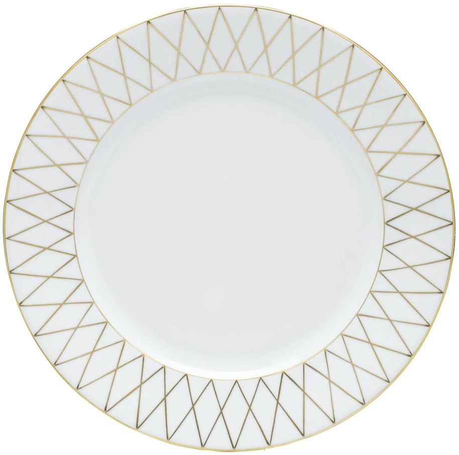 Herend Golden Trellis Dinner Plate, 10.25""