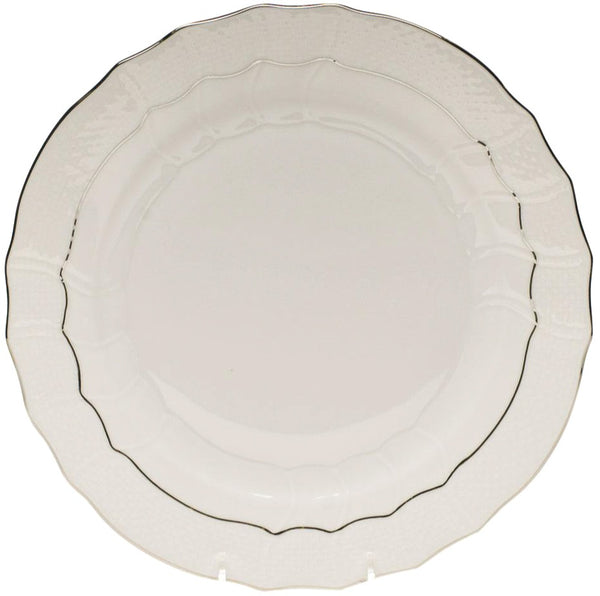 Herend Platinum Edge Dinner Plate, 10.5""