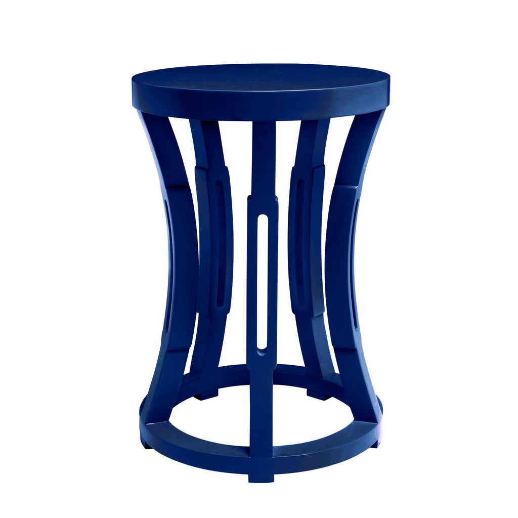 Navy Hourglass Side Table