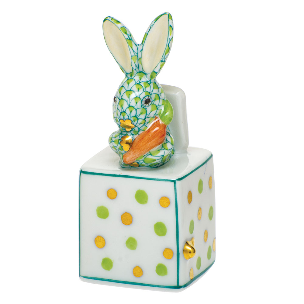 Herend Jack in the Box Bunny, Key Lime Green