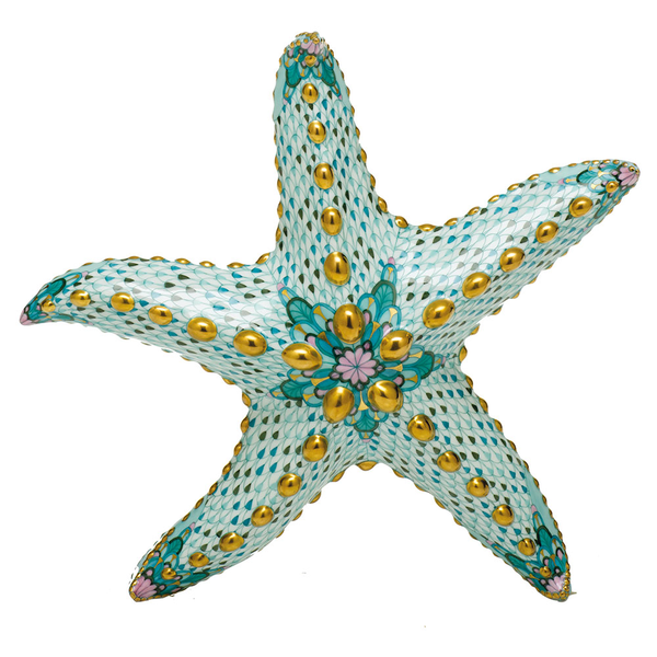 Herend Large Starfish, Multicolor