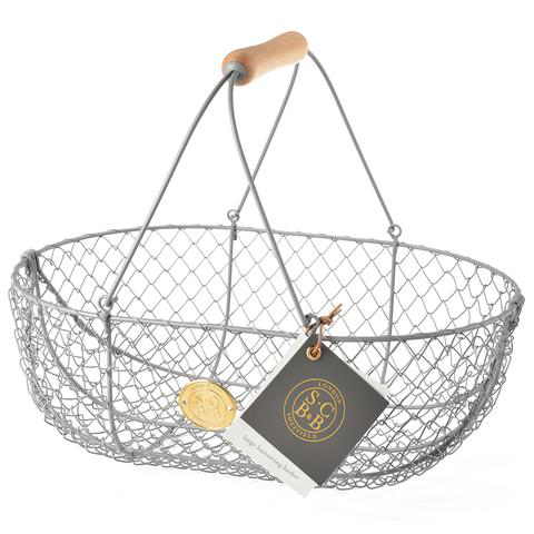 Large Harvest Basket, Grey-Sophie Conran